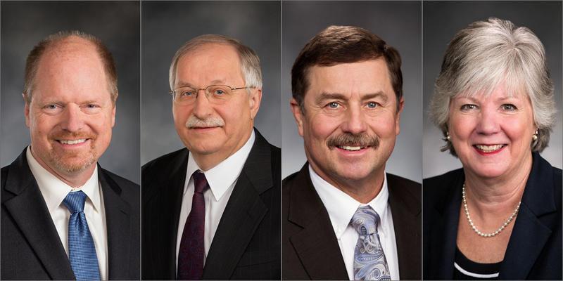 From left: Washington House Republican Leader Dan Kristiansen, Speaker of the House Frank Chopp, Senate Majority Leader Mark Schoesler and Senate Minority Leader Sharon Nelson.