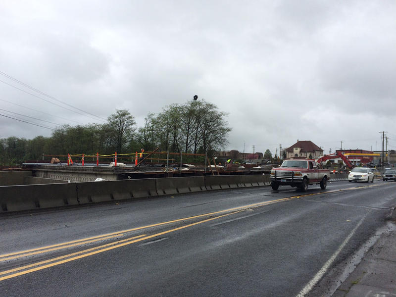 This bridge on Highway 101 in Tillamook could sustain severe damage during an earthquake. It's being replaced by the new span on the left.