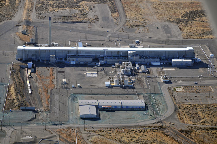 File photo of Plutonium Uranium Extraction Plant where Tuesday's emergency unfolded at the Hanford Site north of Richland, Washington.