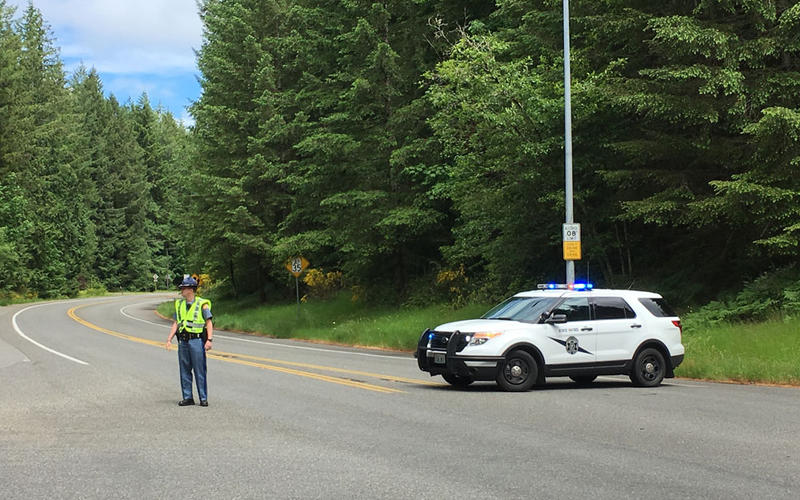 City police and state troopers cordoned off The Evergreen State College Thursday after a 911 caller threatened violence.