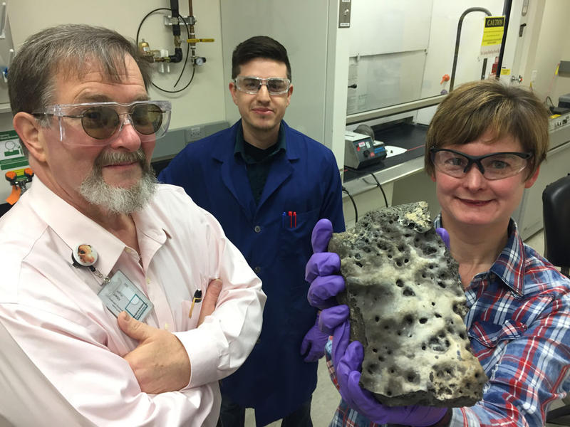 Albert Kruger and Carolyn Pearce are two scientists working on ancient glass from Sweden to help make strong glass at Hanford. They hope they will be able to lock up radioactive waste for as long as possible by making very strong glass like the Swedes.