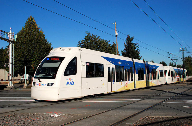 File photo of a MAX train in Portland