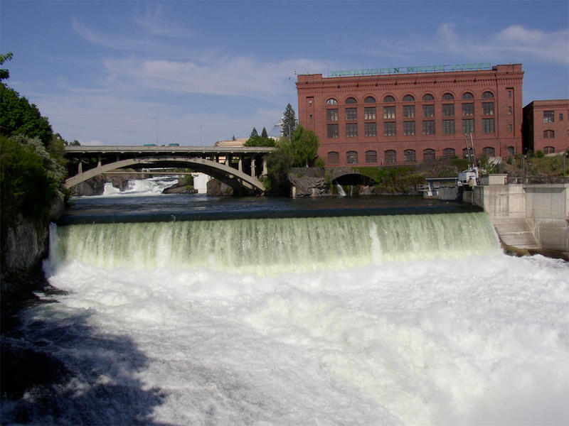 File photo of Monroe Street Dam over Spokane Falls in the city of Spokane, Washington.