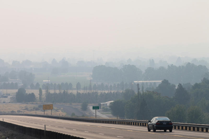 Fires in British Columbia and around Washington state have blanketed Prosser, Washington, in thick haze.