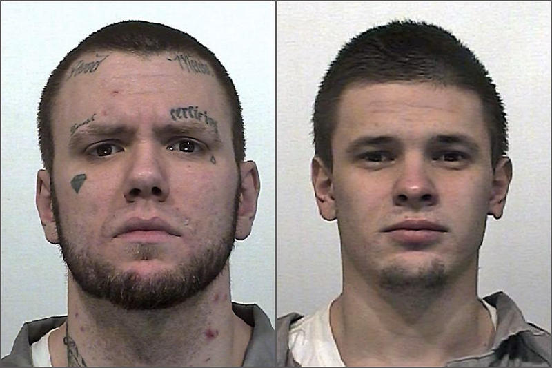 The Department of Corrections says prisoners Tyray Munter and Maksim Petrovskiy escaped from a wildfire crew near Goldendale, Washington early Tuesday morning.