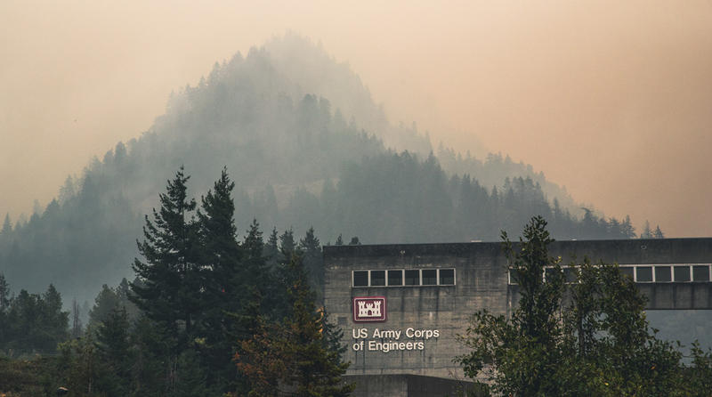 The U.S. Army Corps of Engineers is working with agencies that are responding to the Eagle Creek fire. Fire departments from North Bonneville, Tualatin, Dayton, Keizer and Hillsboro staged personnel and equipment at Bonneville Dam.