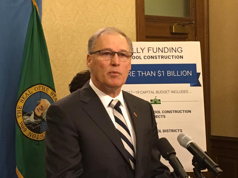 Washington Governor Jay Inslee announcing his supplemental budget proposal