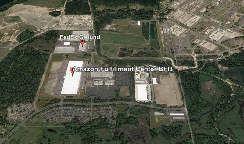 FedEx and Amazon both have large shipping and distrubution centers near the site of Monday's derailment.