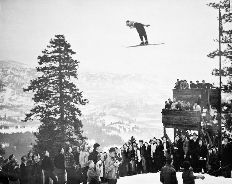 Ski jumping competition in 1946.