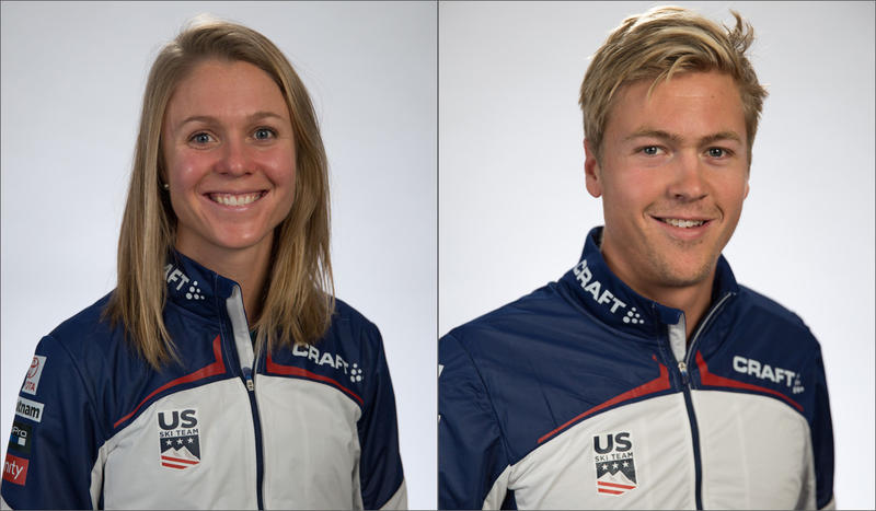 Sadie and Erik Bjornsen, raised along the ski trails of Washington's Methow Valley, are one of three sets of siblings on the 2018 U.S. Olympic cross-country ski team.