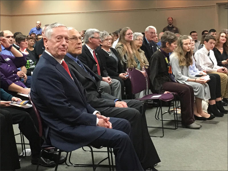 U.S. Secretary of Defense James Mattis, far left, made a trip to his hometown to honor Dr. Lew Zirkle of Richland with the department's Medal of Distinguished Public Service.