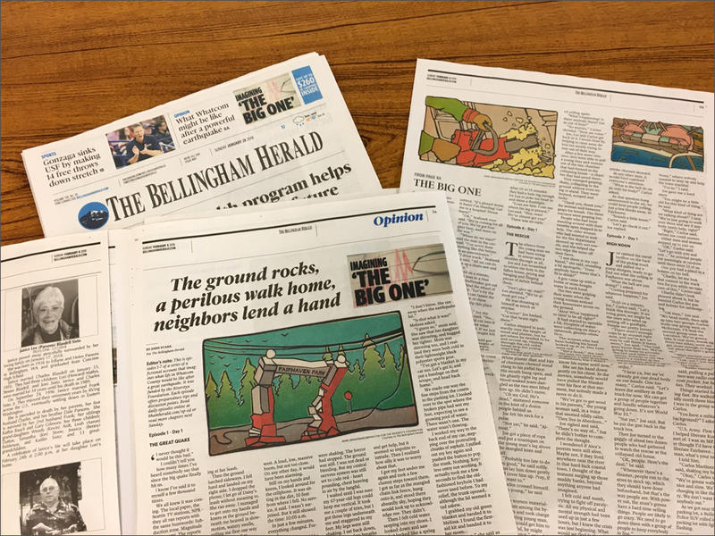 The Bellingham Herald serialized a fictional, but realistic story about surviving a Cascadia megaquake on its op-ed pages.