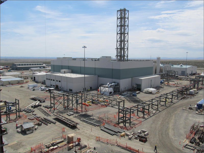 Hanford's waste treatment plant has been under construction for more than a decade in southeast Washington. The facility includes a complex of many large buildings and support facilities.