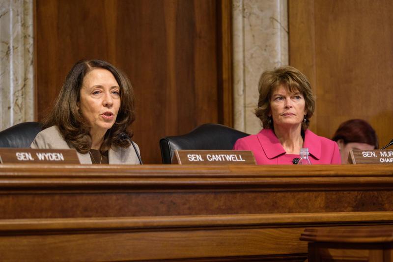 U.S. Senator Maria Cantwell, left.