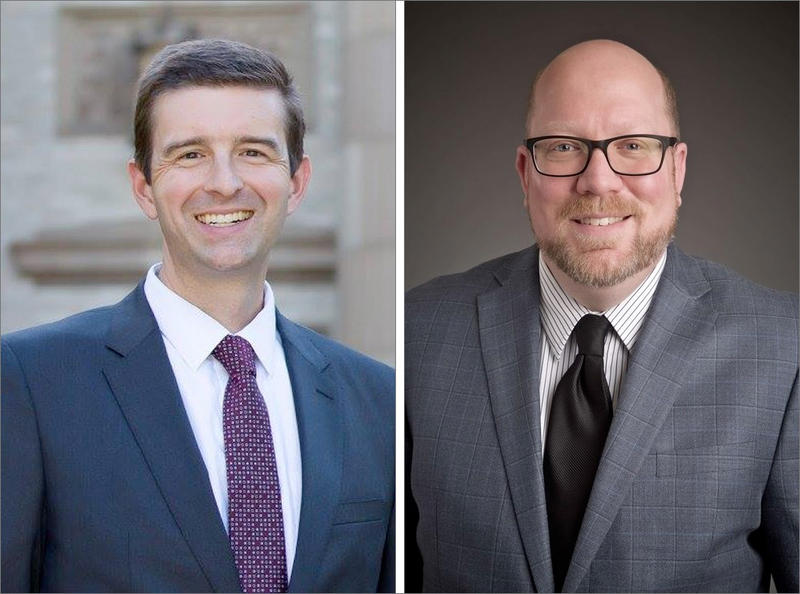 Kevin Barton, left, and Max Wall are facing off in the Washington County district attorney's race.