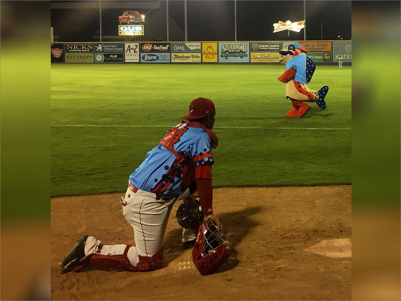 Ribby the Redband trout is Spokane Indians' newest mascot.