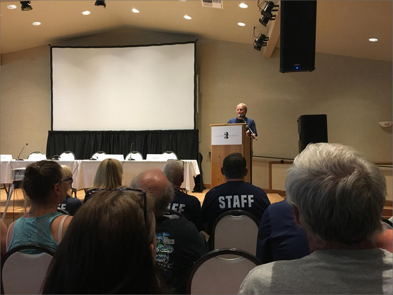 "Filmmaker Dirk Wierenga introduces the new documentary ""D.B. Cooper: The Real Story"" at its premiere in Cle Elum on Saturday. The roughly 200 available tickets sold out."
