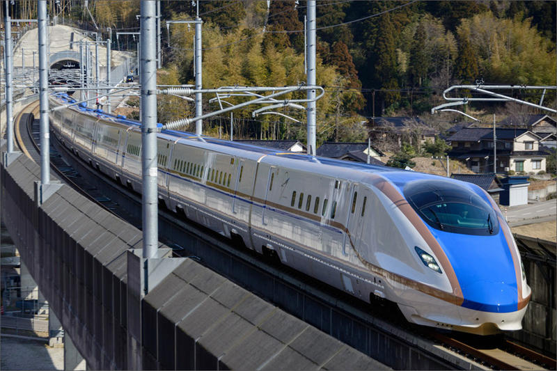 Shown is a W7 Series Shinkansen in Japan. Could the Pacific Northwest be served by high speed trains in the future?