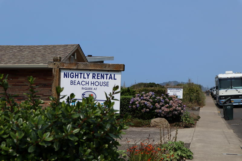 In Newport, vacation rentals are concentrated along the bluffs above the Pacific Ocean.