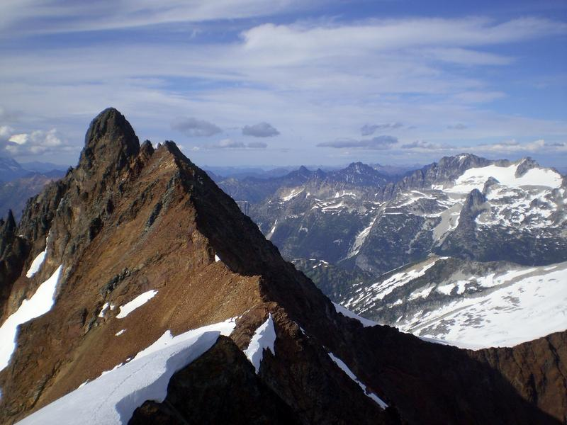 View from Sahale Peak near Cascade Pass in North Cascades National Park.