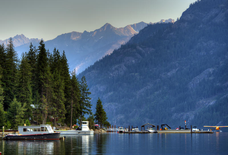 Stehekin Landing, in the Lake Chelan National Recreation Area, is a gateway to the southern unit of North Cascades National Park.
