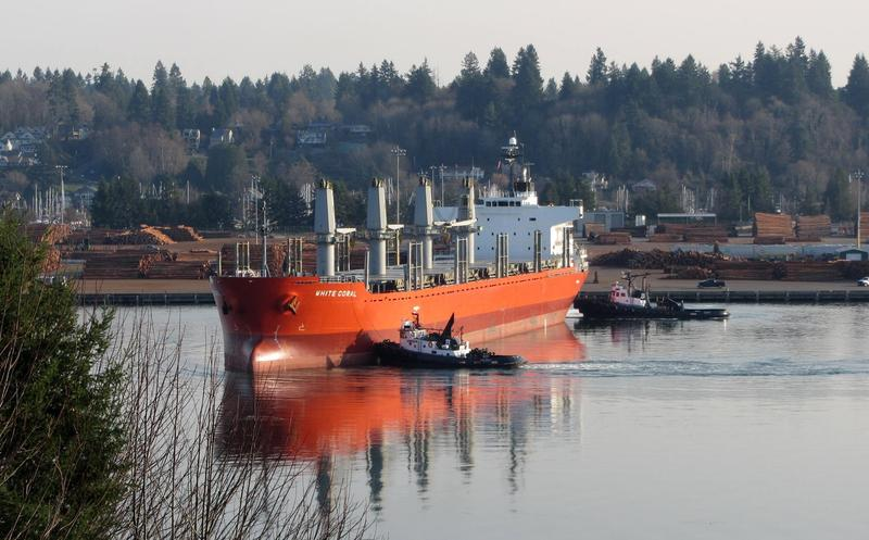 The Port of Olympia does a steady business exporting logs to China and Japan for Weyerhaeuser. Wood is now hit by a retaliatory tariff.