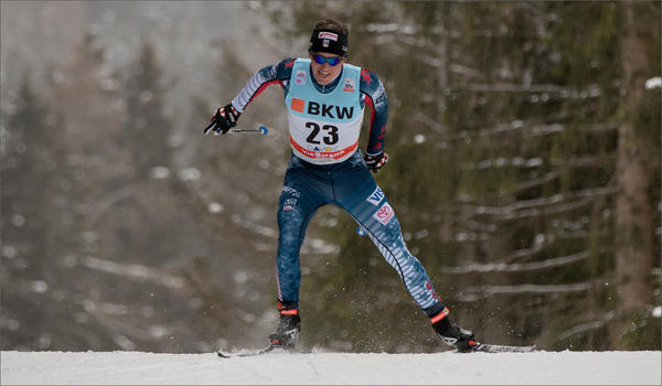 U.S. Olympic Team member Scott Patterson and older sister Caitlin began skiing at an early age in north central Idaho before moving to Anchorage in 2005. CREDIT: REESE BROWN