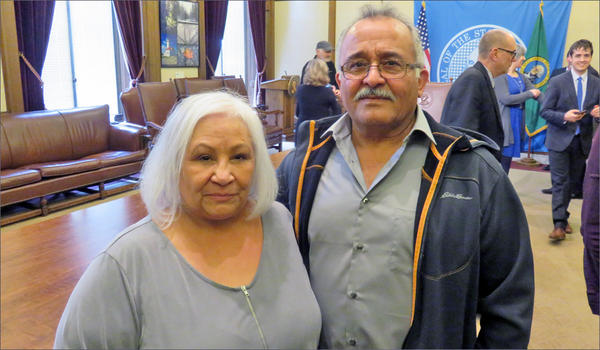 Abe Garza worked at Hanford for more than three decades. His wife Bertolla Bugarin said he hasn't been the same person since his exposure to radioactive and chemical waste at Hanford. CREDIT: TOM BANSE