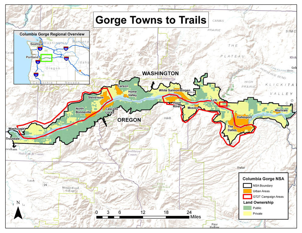 TownToTown Trekking Vision For Columbia River Gorge Inches