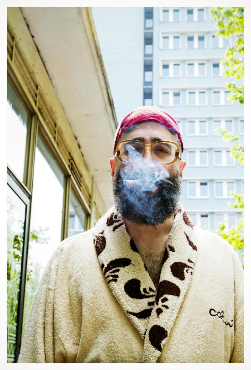 "David Strauss, a writer and editor, was captured in his bathrobe for Ahner's ""Berlin Beauty"" project."