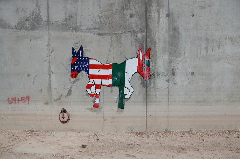 2-Headed Donkey on Border Wall (2011)
