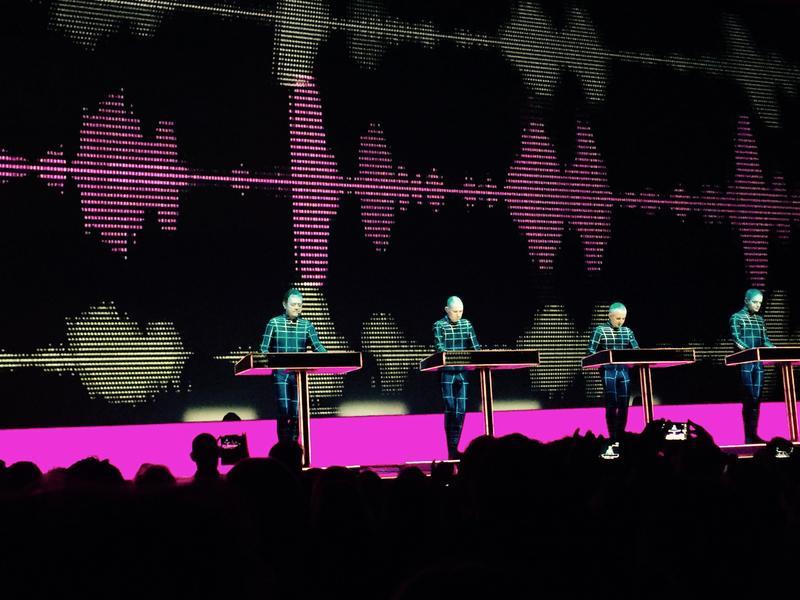 Kraftwerk performing at Neue Nationalgalerie