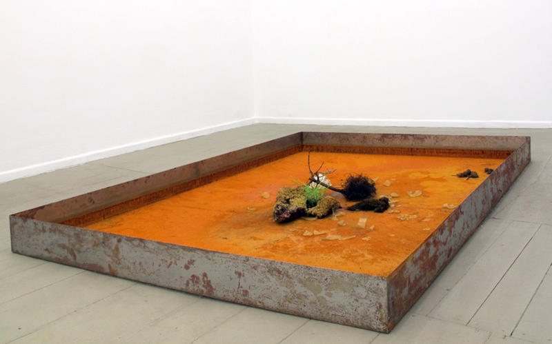 """For you I have been absent in the spring"" (after the melting process) - installation view at Galerie Tanja Wagner, 2012"