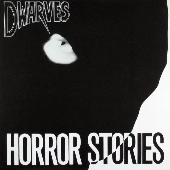 The cover of The Dwarves' first album, Horror Stories, released in 1986. It is also possibly the least offensive album artwork in their discography.