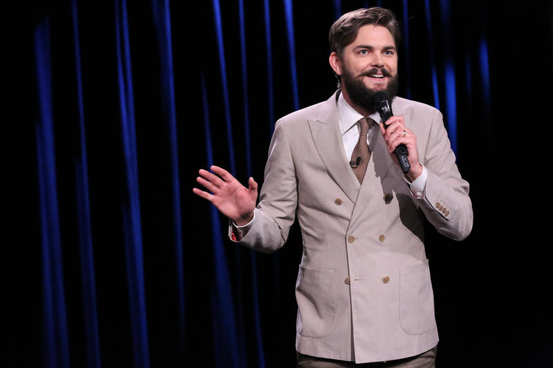 Comedian Nick Thune performing at The Tonight Show Starring Jimmy Fallon on July 18, 2014.