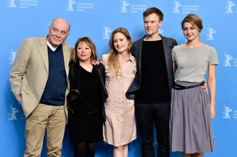 """The cast and the director of the film, """"All Of A Sudden"""" attend the photo call during the 66th Berlinale Film Festival."""