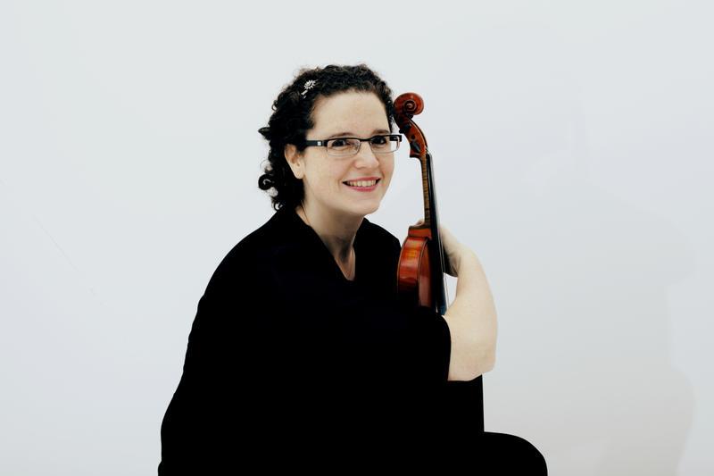 American violinist Anthea Kreston, a member of the Artemis Quartet.