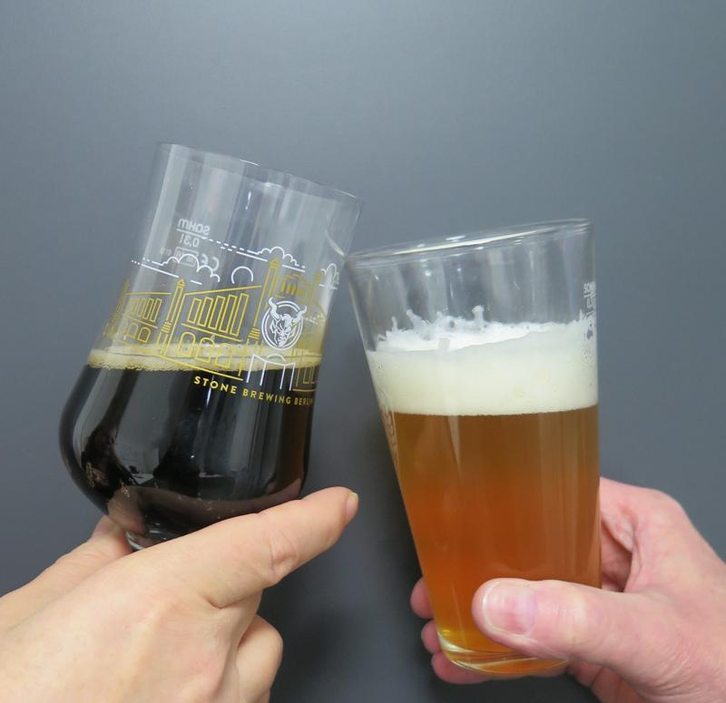 Stone's Xocoveza, left, and Weihenstephan's Kellerbier 1516, right.