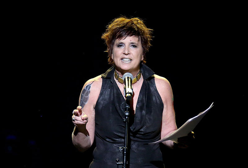 Actress and V-Day Founder Eve Ensler speaks onstage at the 3rd Annual One Billion Rising: REVOLUTION at Hammerstein Ballroom on February 7, 2015 in New York City.