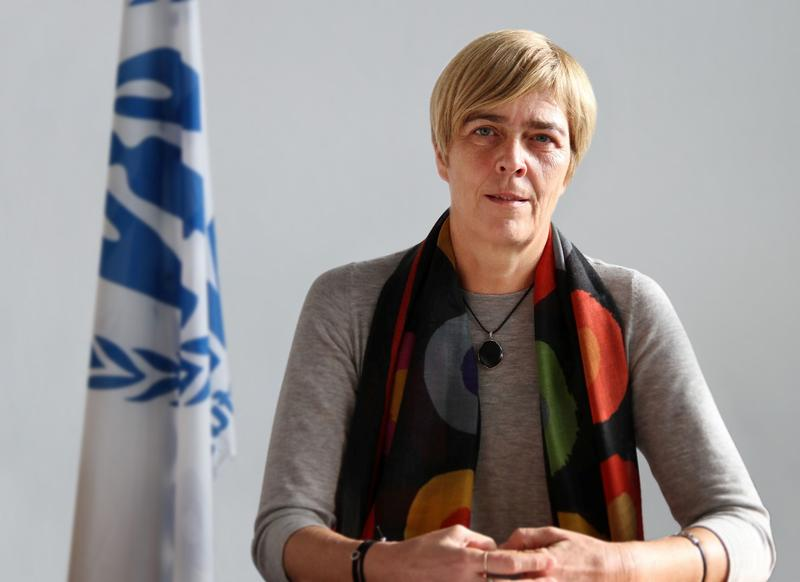 Katharina Lumpp, a representative of the United Nations High Commissioner for Refugees in Germany, has been assisting refugees for over 20 years.