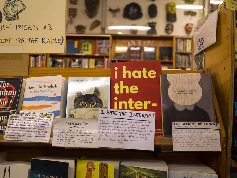 """I Hate the Internet"" at Green Apple Books in San Francisco."