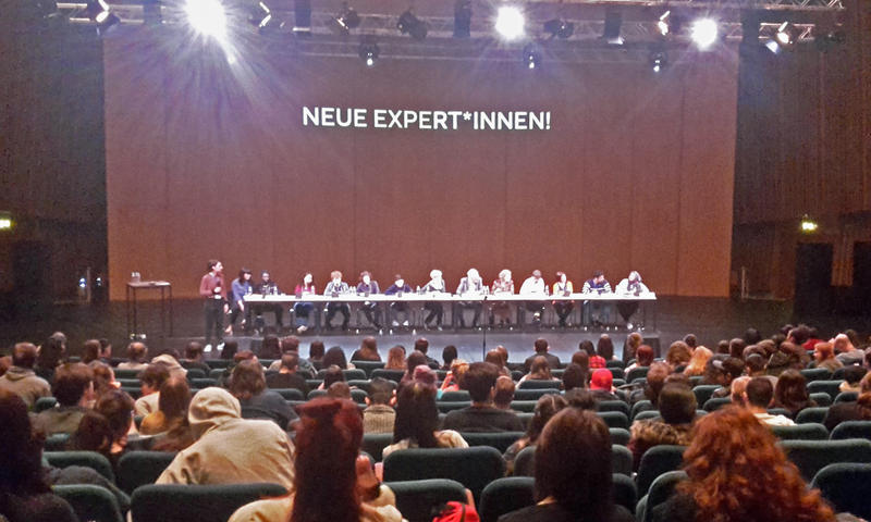 Students participate in The New Experts Congress at .The Haus Der Kulturen Der Welt