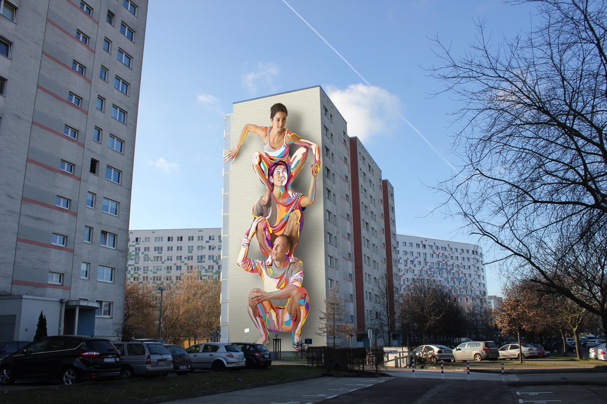 American duo jbak commissioned to create lichtenberg mural for Best mural artist