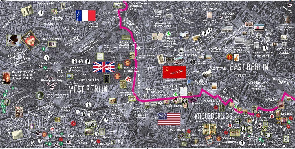 bill van parys personal map of a divided berlin bill van parys and ...