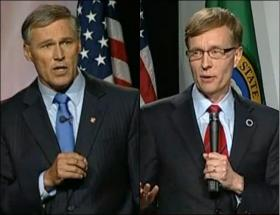 Around 8 percent of Washington voters are still undecided on who they will pick for governor.