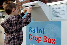 Washington voters can return their ballots via an official drop box by 8 p.m. on Election Day.