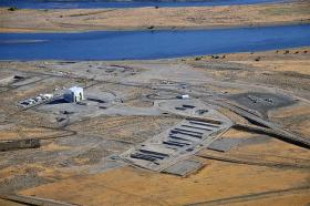 Hanford's 100 Area, located along the banks of the Columbia River.