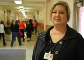 Linda Delaney is the 8th grade counselor at Sacajawea Middle School in Spokane. She uses the Early Warning System regularly to check stats on students and look for warning signs.