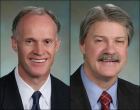 Democratic Senators Rodney Tom, left, and Tim Sheldon will caucus with Republicans.