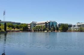 A view of the Nike World Headquarters campus in Beaverton, Ore.